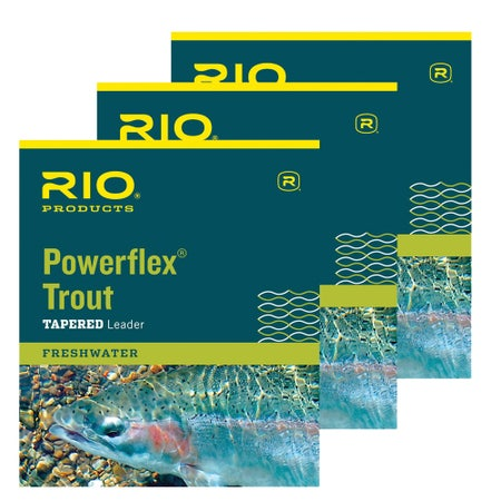 RIO Powerflex Trout Leaders (Triple Pack)