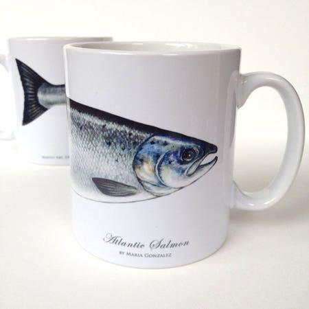 MayFly Art Atlantic Salmon Mug