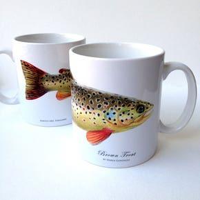 MayFly Art Brown Trout Mug