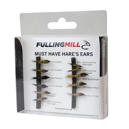 Fulling Mill Must Have Hare's Ears Fly Set