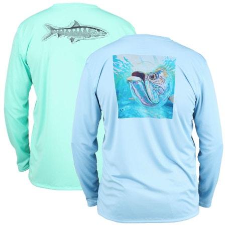 Simms Solar Tech Long Sleeve T-Shirt - Ocean Collection