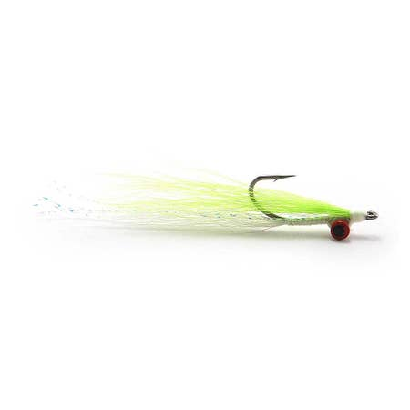 Fulling Mill Chartreuse/White Saltwater Clouser
