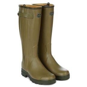 Le Chameau Chasseur Leather Lined Wellington Boots (Calf 46)