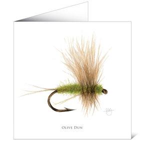 Mayfly Art Greetings Card - Olive Dun