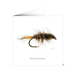Mayfly Art Greetings Card - Nymph
