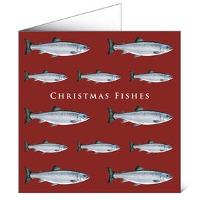 Mayfly Art Greeting Card - Christmas Fishes