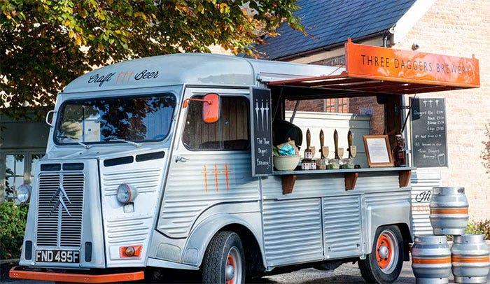 The Three Daggers Brewery Vintage Beer Bus