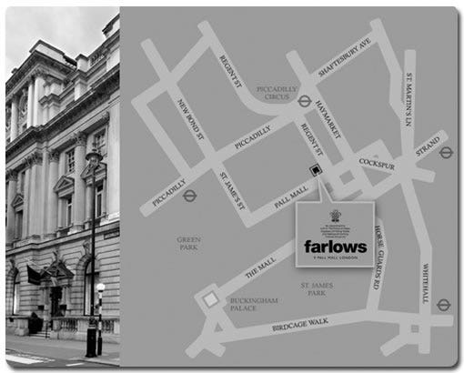 Directions to Farlows store, London