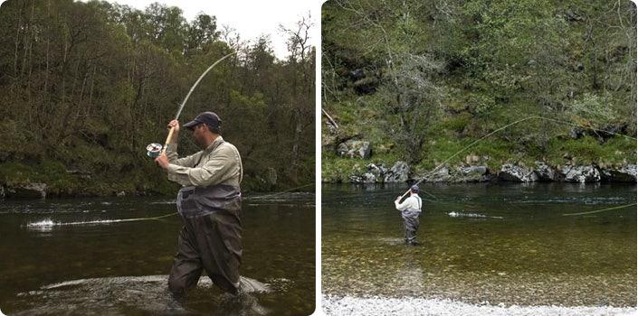 Chris Hayward playing a fish
