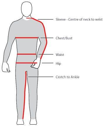 Measure Chest Mens Clothes
