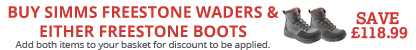 Buy a pair of Simms Freestone Waders and matching Simms Freestone Boots and Save £118.99