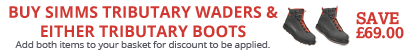 Buy a pair of Simms Tributary Waders and matching Simms Tributary Wading Boots and Save £69.00