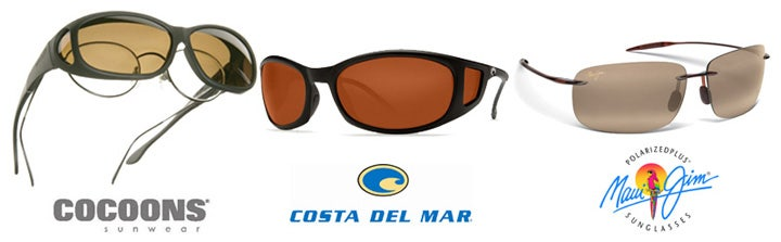 Selection of polarised sunglasses for fishing